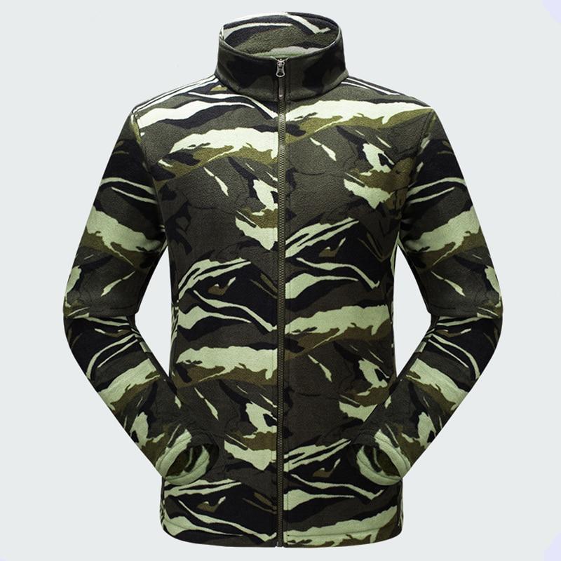 2017 New Autumn Winter Outdoor Men Thermal Polar Fleece Coats Thick Warm Polar Fleece Jackets Male Printing Polar Fleece Jackets