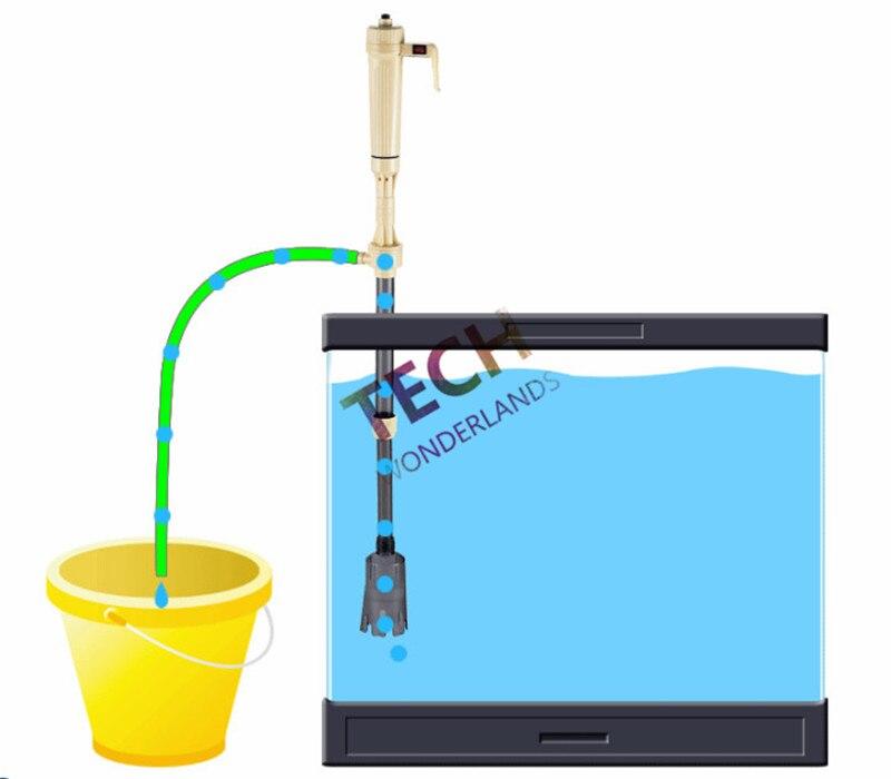 自動バッテリー真空砂利サイフォンクリーナー水族館水槽クリーニングワッシャークリーナーでチェンジャー