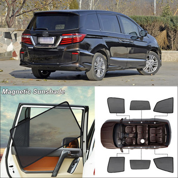Car Side Windows Magnetic Sun Shade UV Protection Ray Blocking Mesh Visor For Honda Elysion 2015-2019 Curtain Accessories