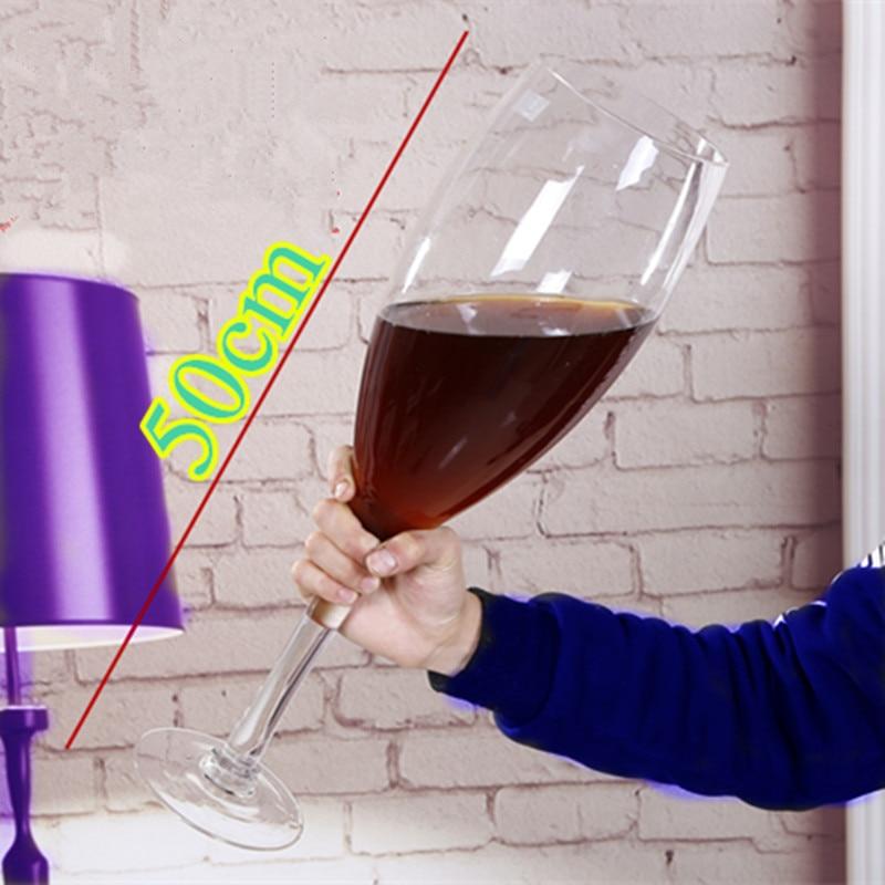 50 cm kreatywny Super duży kieliszek do szampana hanap czerwony kielich do wina kubek ktv duża pojemność kufel do piwa kieliszki domu wystrój hotelu w Inne szkło od Dom i ogród na  Grupa 1
