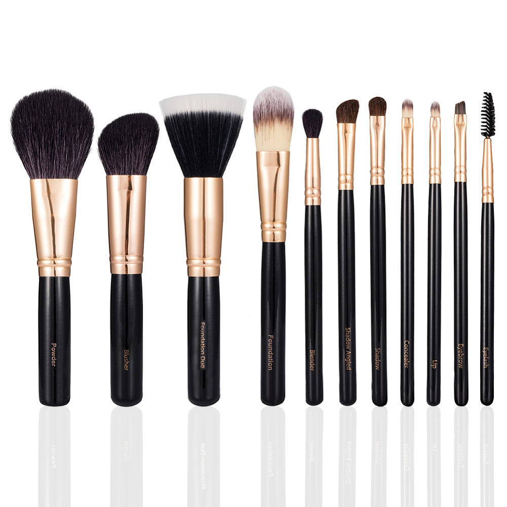 11pcs Make Up Brushes Professional Nature Bristle Brushes Beauty Essentials Makeup Brushes with Gift Bag Top Quality Brush Sets temptalia make up brushes 8pcs brush set professional nature bristle brushes beauty essentials makeup brushes copper top quali