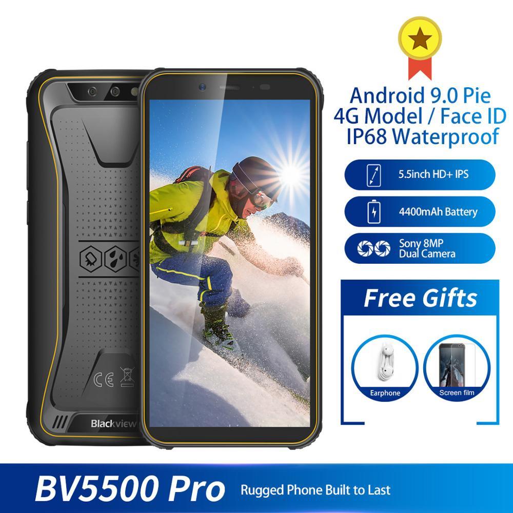 Original Blackview BV5500 Pro IP68 Waterproof 4G Mobile Phone 3GB+16GB 5.5