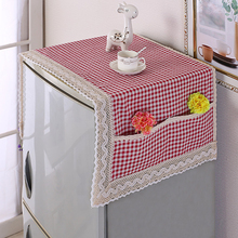 Simple Multi-function cover Fridge Dust Cover With Storage Bag Multi-purpose Washing Machine Refrigerator Top Covers