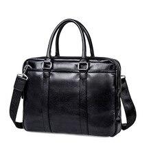 купить Genuine Leather Messenger Bag Men Shoulder Bag Casual Male Briefcases Laptop Men's Computer Bussiness Totes по цене 2379.89 рублей