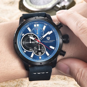 Men Waterproof Chronograph Quartz Watch Luxury Brand 5
