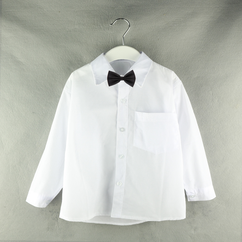 2018 New Arrival Long Sleeve Teenager Boys Clothes White School Wedding Boys Shirts Turn-down Collar Boy Shirt Kids Tops 6-12Y