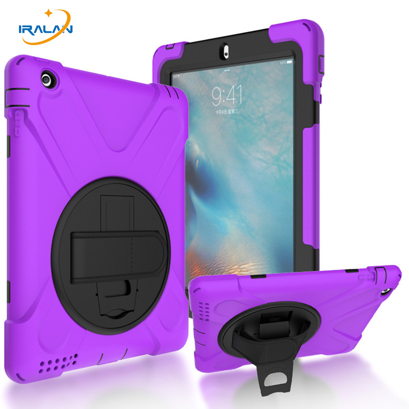 Kids Safe Shockproof Case for Apple iPad 2 3 4 360 Degree Rotation with Silicon Hand Strap and Kickstand stand Cover+Pen+Film levett caesar prostate massager for 360 degree rotation g spot