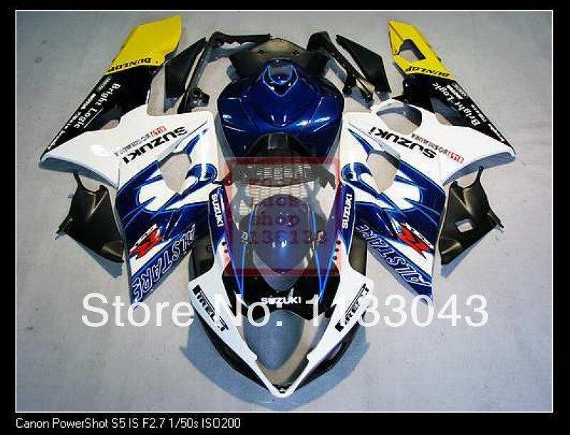 Инжекторная форма синий/белый H4367 полный обтекатель комплект для SUZUKI GSX-R1000 K5 05-06 GSXR1000 GSX R1000 GSXR 1000 K5 05 06 2005 2006 F