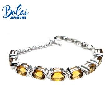 fbed60e8c59f Genuino Natural amarillo citrino piedras preciosas redondas cuentas pulsera  mujeres 7mm 108 cuentas ...