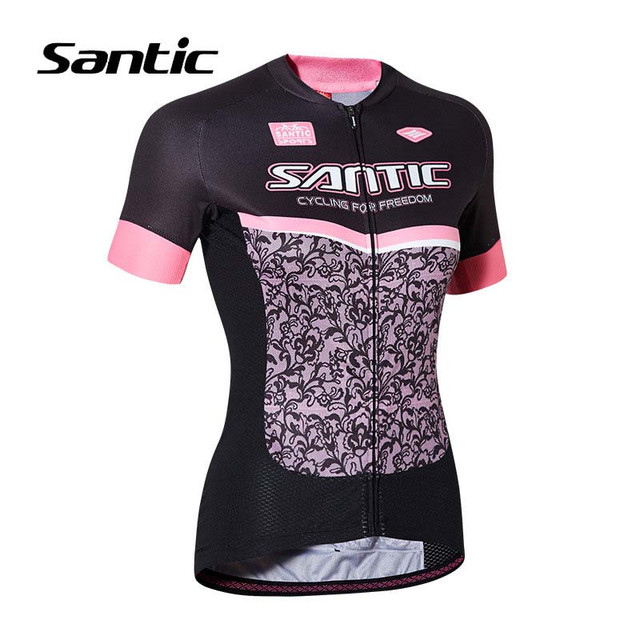 Santic 2018 Cycling Jersey Women Short Sleeve Jersey Camisa Ciclismo Breathable  Road Mountain Bike Jersey Bicycle Clothing e47878097
