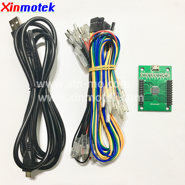 Xinmotek XM-09 LED Arcade Game Controller / Support PS3 PC Android Raspberry Pi /Arcade Joystick Game Machine Accessories