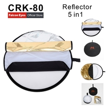 Camera reflector CRK-80 5 in 1 Portable Collapsible Light Round Reflector Studio Photo Photography Accessories with Carrying Bag