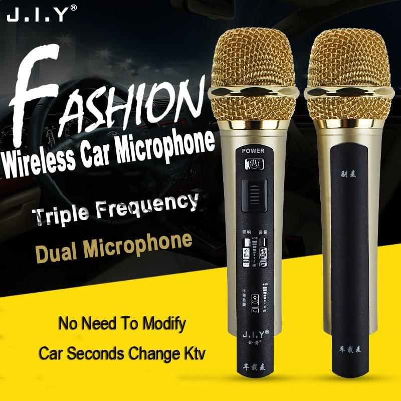 JIY Metal Car condenser wireless Microphone High fidelity sound Professional Double studio Microphones for karaoke Meeting MICJIY Metal Car condenser wireless Microphone High fidelity sound Professional Double studio Microphones for karaoke Meeting MIC
