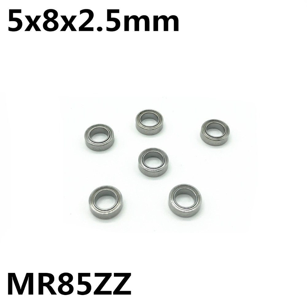 10Pcs MR85ZZ L-850ZZ 5x8x2.5 Mm Deep Groove Ball Bearing Miniature Bearing High Qualit Advanced MR85 MR85Z