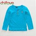 2016 Otoño Camiseta de Algodón para Los Bebés y Los Niños Ocasional Perrito Camiseta Linda para Los Niños Envío Libre Cómodo