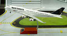 IF 1/200 B747-400 aircraft model British Iron Maiden tour Painting Limited Collector Model Scale Models With Original Box