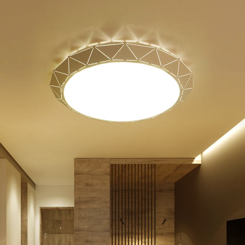 Modern Led Ceiling Light AC85-265V Indoor Lighting Round Bedroom Living Room Lamp Foyer Lamps  lamparas de techo Free Shipping japanese led ceiling light ac90 265v indoor lighting square 45 55cm solid wood natural bedroom living room lamp foyer lamps