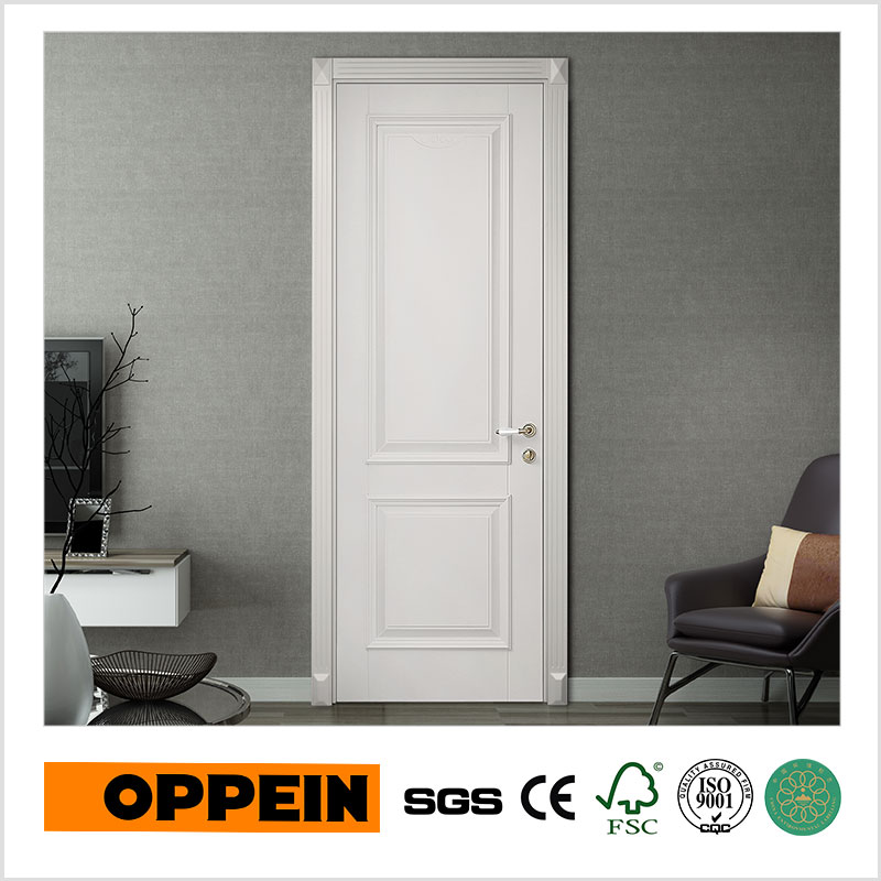 OPPEIN New Design Interior Door White Lacquer Panel YDE027D