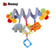 Sozzy 35cm Baby Rattle Stuffed Plush Doll Magic Mirror Musical Sound Car Bed hanging Toy Toys Bell Ring Infant Elephant Lion