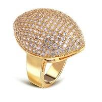 브랜드 새로운 아름다운 디자인 로맨틱 약혼 반지 설정 179 개 최고 품질 CZ 눈 모양 골드 컬러