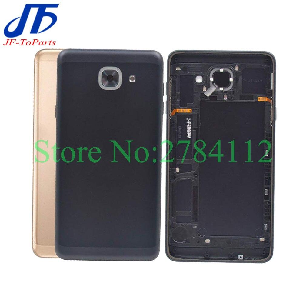 10 Pcs Cadre Moyen Lunette + Couvercle De Batterie Arrière Logement Porte Arrière Pour Samsung Galaxy J7 Max G615 Pièces De Rechange