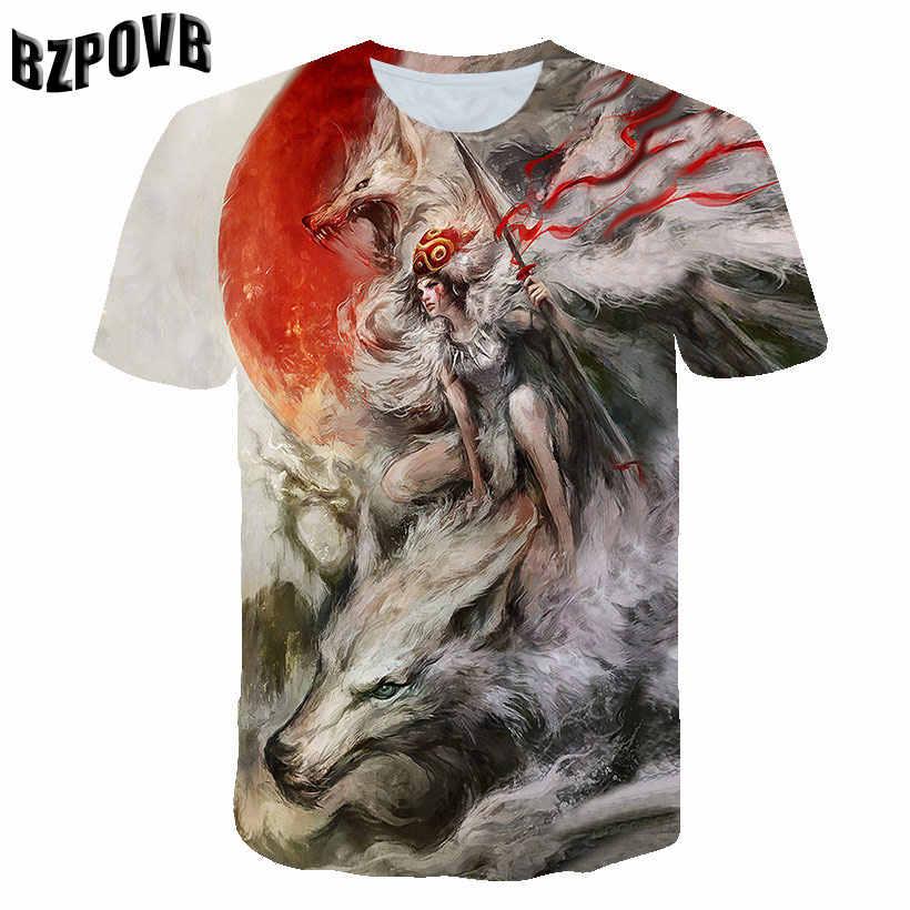Rock series punk style 3D printing T-shirt men and women T-shirt summer short-sleeved O-neck shirt and T-shirt 2019 new