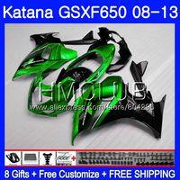 Kit For SUZUKI KATANA GSXF 650 650F GSX650F 08 09 10 11 12 13 24HM.17 GSXF650 2008 2009 2010 2011 2012 2013 Fairing Green black