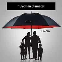 135cm Large Golf Umbrella Men Double Layer Umbrella Rain Women Long Handle Semi Automatic Sun Windproof Corporation Umbrellas