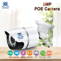 ZSVEDIO IP Cameras POE 5MP IP Camera Alarm System CCTV Camera IP Cameras POE Waterproof NVR HD Bullet Alarm System Webcam