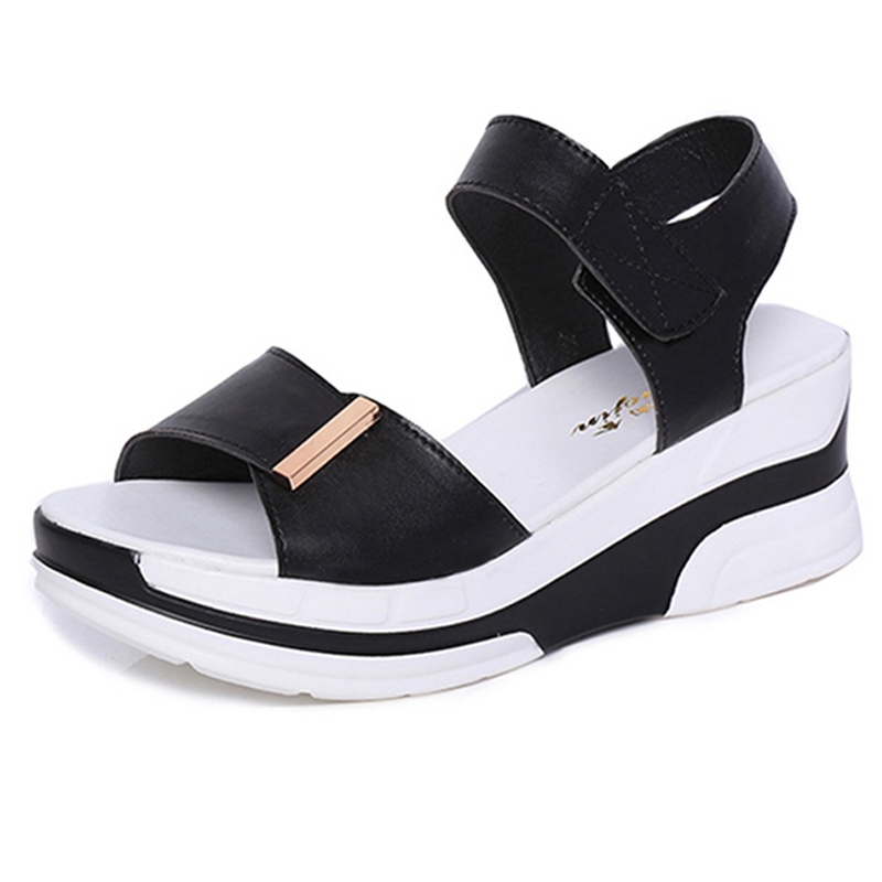2017 Summer shoes woman platform sandals women soft leather casual open toe gladiator wedges women shoes zapatos mujer 2017 gladiator summer shoes woman platform sandals women flats soft leather casual open toe wedges sandals women shoes r18