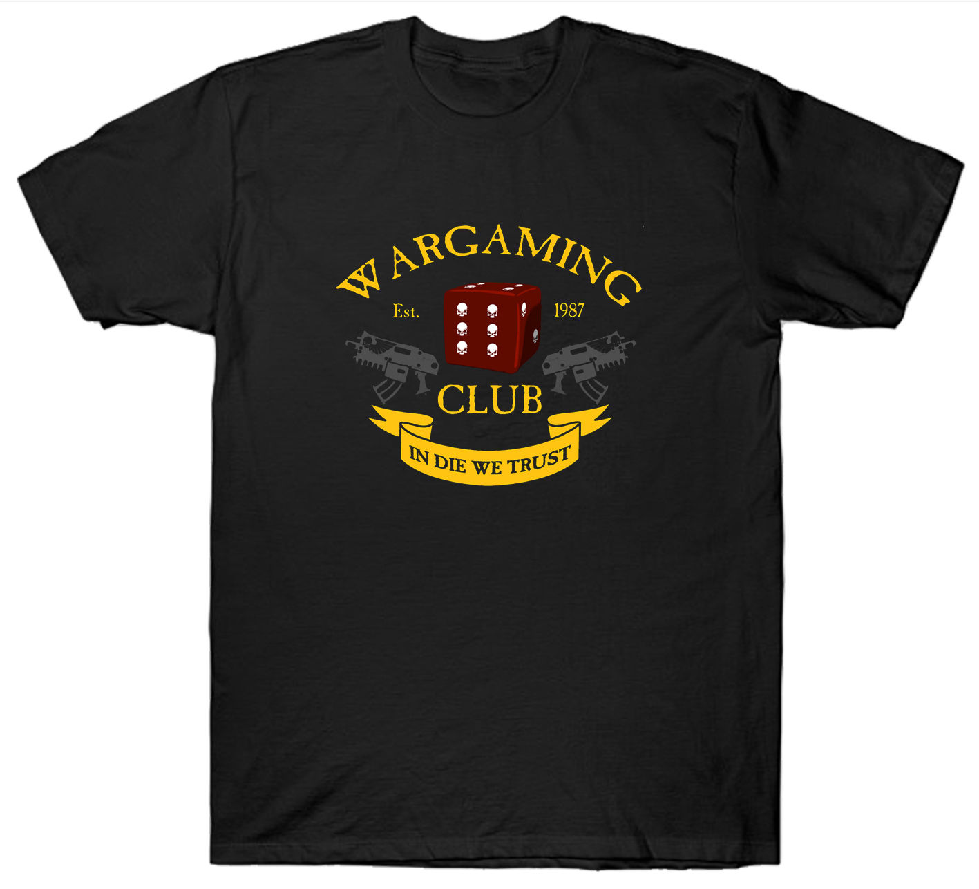 WARGAMING CLUB T SHIRT TOP WARGAMES WAR GAMES GAME GAMER O-Neck Oversize Style T-Shirts Styles Comfortable Top Tee Plus Size image
