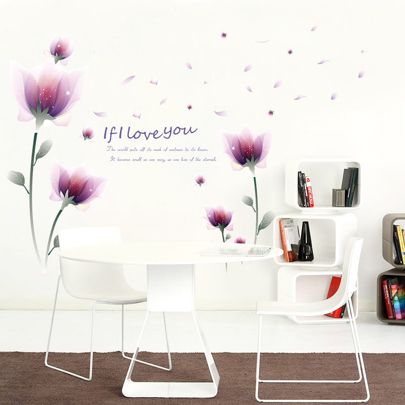 Decorate flower leaf buttlefly art wall sticker decoration Decals mural painting Removable Decor Wallpaper LF 1805 in Wall Stickers from Home Garden