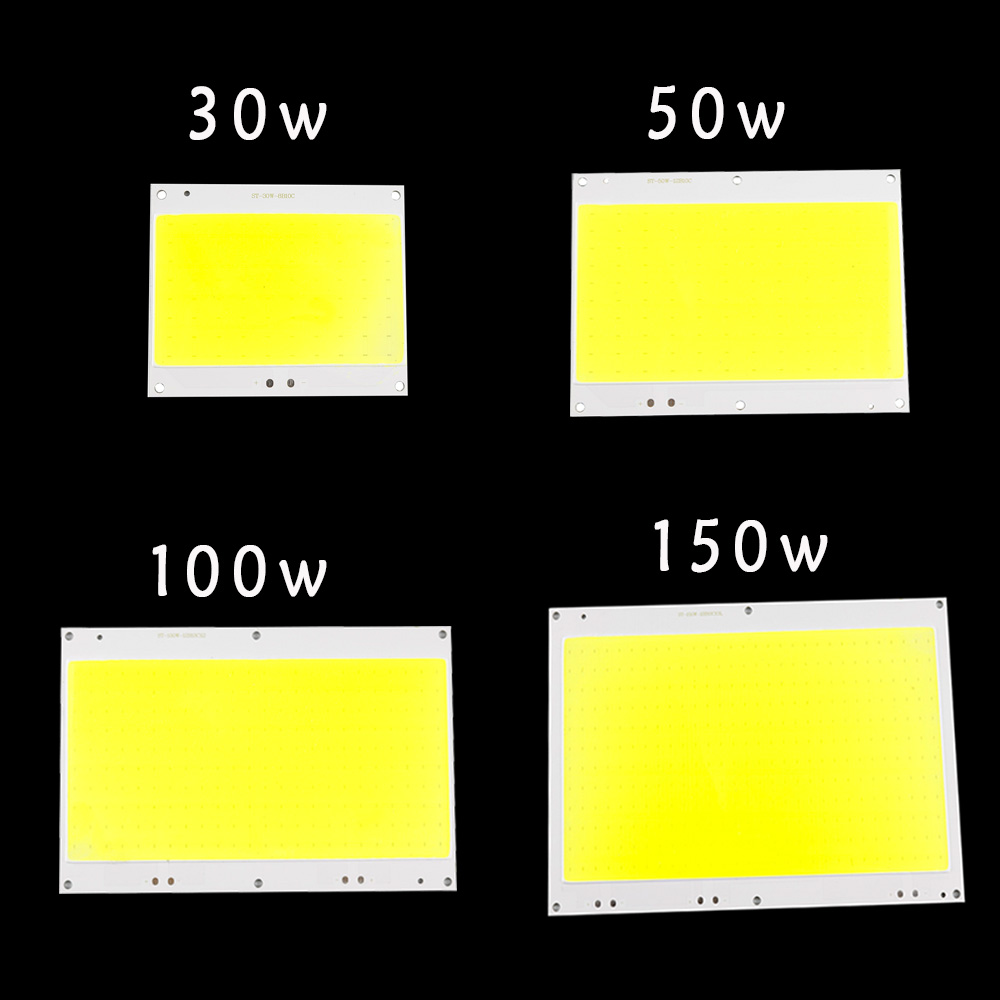 LED Floodlight Cob Chip DC30-33V Led Bulb SMD White 30W 50W 100W 150W DIY Outdoor FloodLight Spotlight Light project lighting