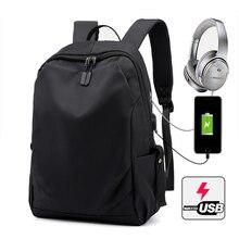 15.6 นิ้ว USB ชาร์จกระเป๋าเป้สะพายหลังแล็ปท็อปสำหรับ MacBook Air Pro 11 12 13 15 Xiaomi Lenovo กระเป๋าเดินทางผู้ชายกระเป๋าแล็ปท็อป