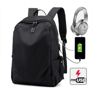 Image 1 - 15.6 inch USB Charging Laptop Backpacks Notebook Case For Macbook Air Pro 11 12 13 15 Xiaomi Lenovo Men Travel Laptop Bag
