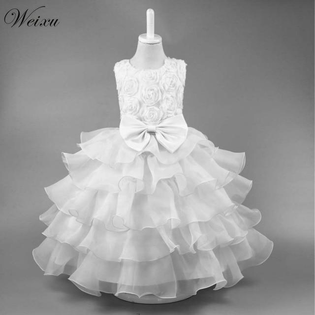 6b5aad4bca1457 Weixu Baby Meisje Formele Gelaagde Jurk Bruidsjurken Wit Tulle Ballroom  Jurken Voor Meisjes Peuter Verjaardagsfeestje Prinses