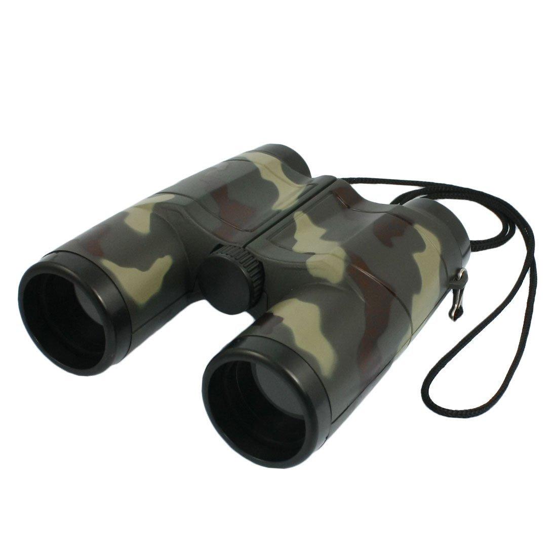 Kids 4X 31mm Lens Camouflage Pattern Binocular Telescope For Child Fun Gift