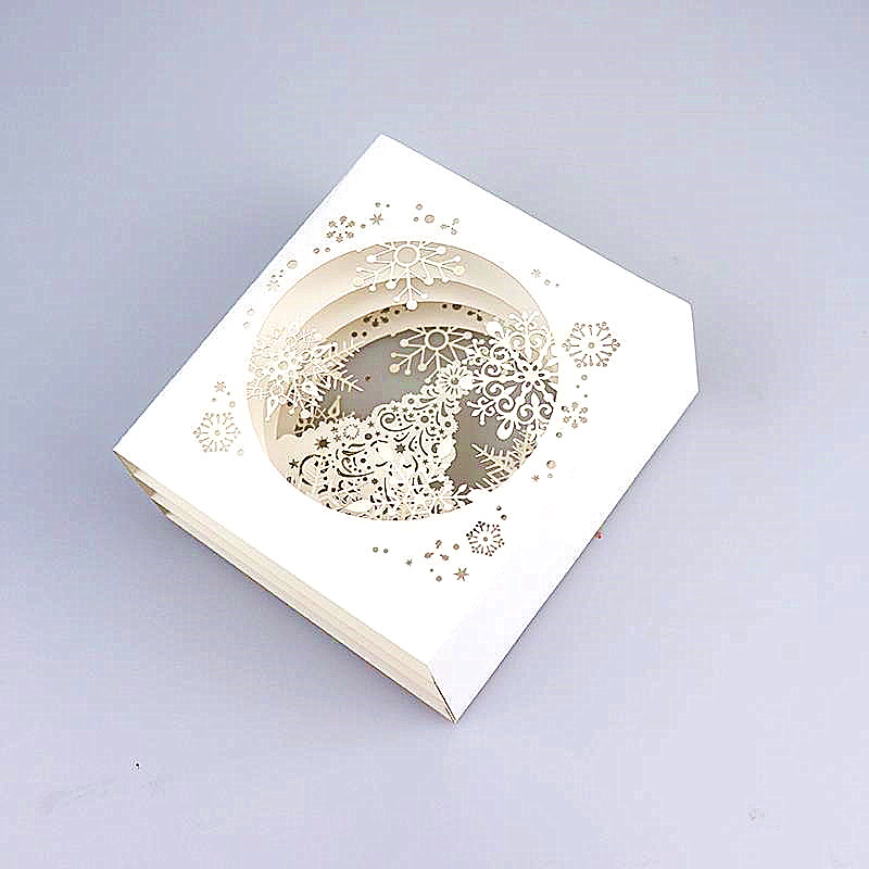 Hot sale merry christmas card 3d greeting card snowflake gift paper merry christmas card 3d greeting card snowflake gift paper cards pop up tree box snowflake cards festival gifts m4hsunfo