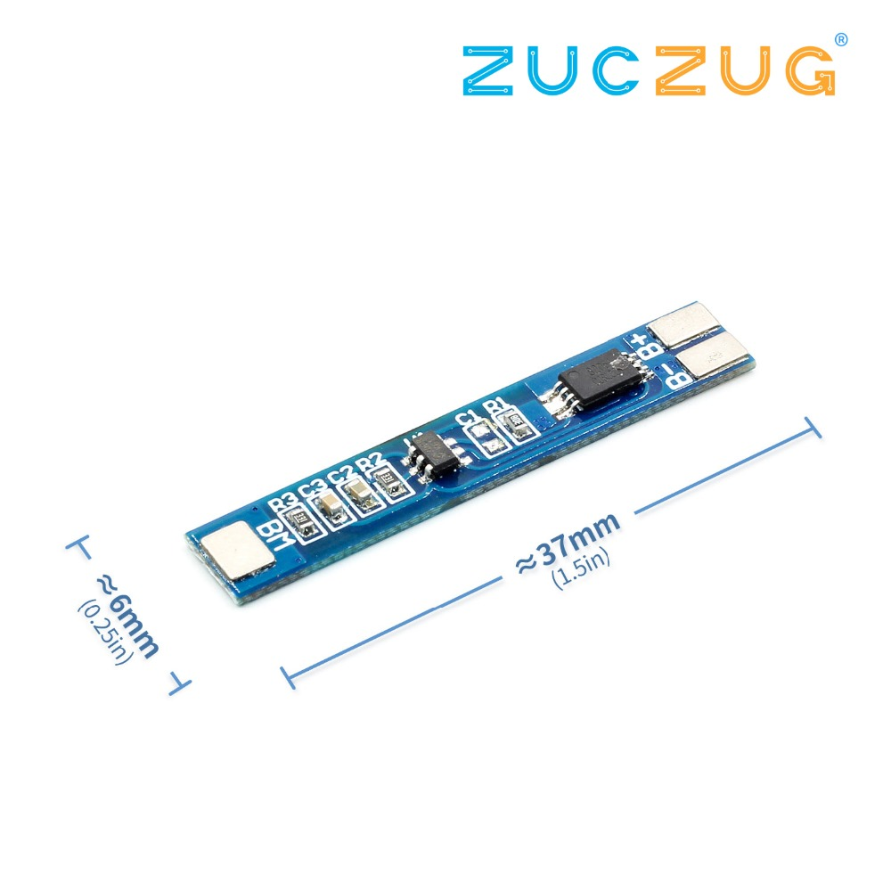 2S 7.4V Lithium Battery Protection Board Overcharge And Overdischarge Protection 8.4V 2A Operating Current 3A Current