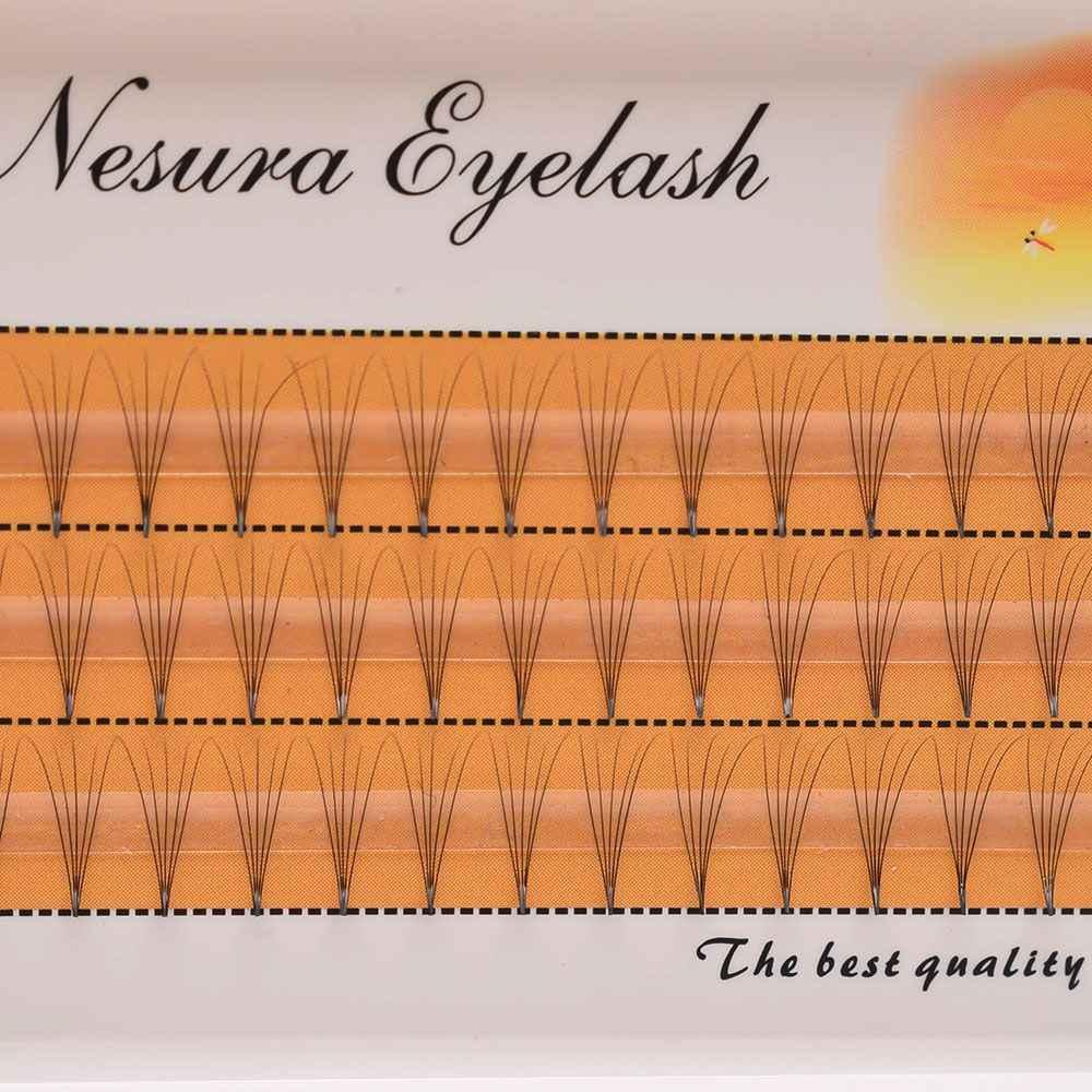 60 шт./кор. натуральный длинный отдельный накладной ресницы кластер Поддельные ресницы, накладные ресницы 5D макияж косметический инструмент для девочек