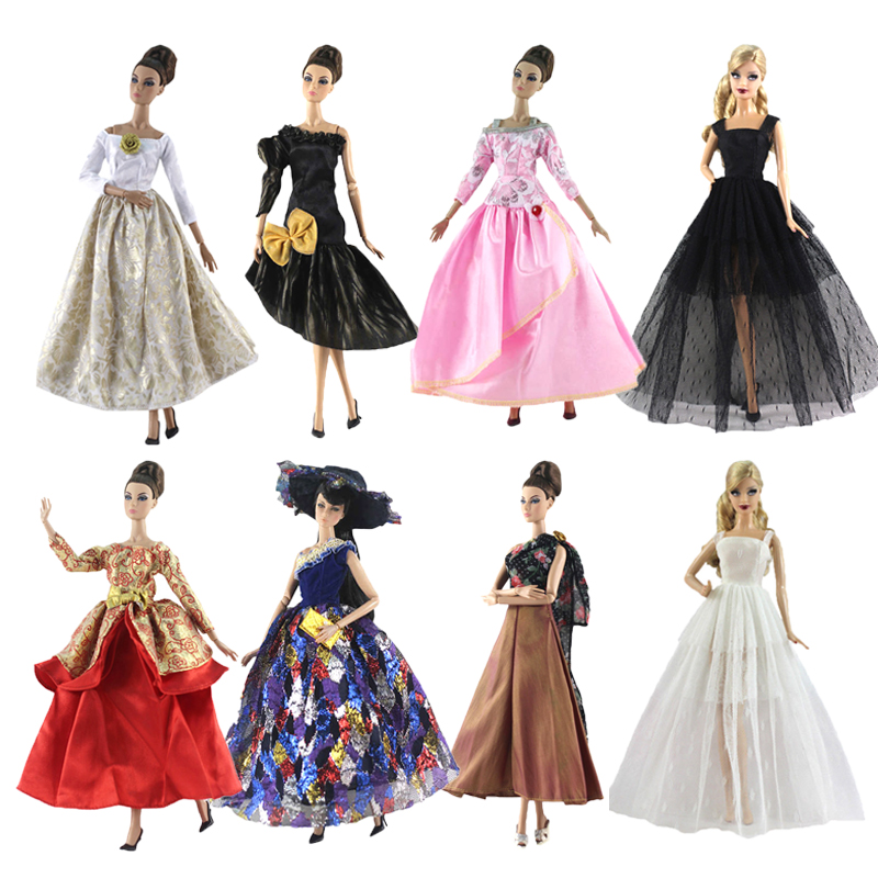 1 Set Evening Party Dress Wedding For 30CM Dolls Clothes Fashion Outfits 11 Inch Accessories DIY Toys For Girls Gifts