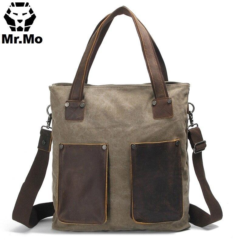 shoulder briefcase messenger bag leather men Bags Front Pocket men s leather shoulder messenger briefcase bag