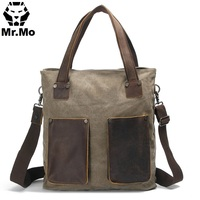 shoulder briefcase messenger bag leather men Bags Front Pocket men s leather shoulder messenger briefcase bag