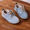 WENDYWU весна осень малыш шнуровке детская обувь из натуральной кожи девочка черный замши мальчик марка квартиры серый черный коричневый