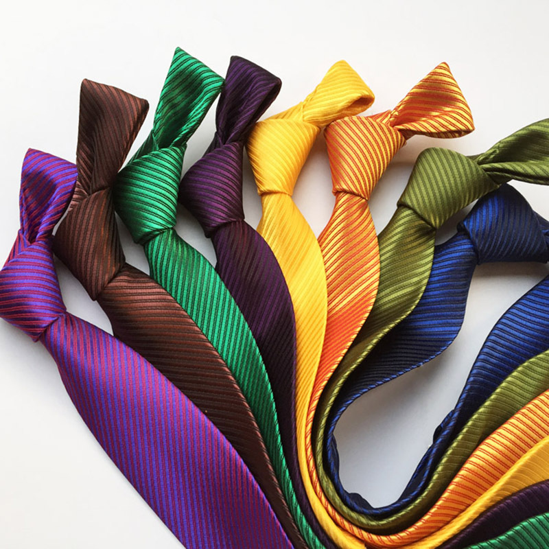New Fashion Accessories Necktie High Quality 8cm Men's Ties For Suit Business Wedding Casual Black Red Yellow Green Navy Silver