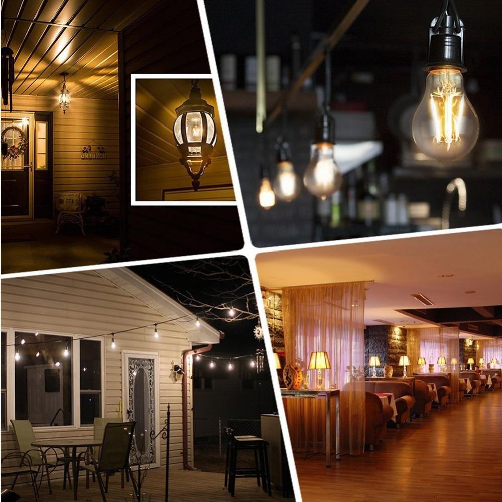 Купить с кэшбэком GANRILAND Dimmable A19 Globe Lamp LED Filament Light Bulb 10W 2700K E27 110V 220V Decorative Vintage Pendant Lampada Led Lamp
