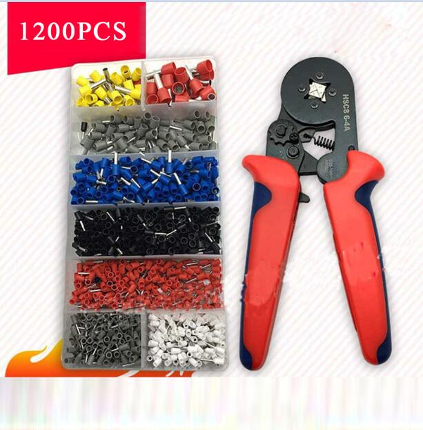 1200pcs Wire Crimp Connector Cable Cord Pin End Bootlace Ferrule Terminal Kits