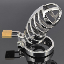 Spiral Chastity Belt 85mm Stainless Steel Male Chastity Cage Penis sleeve lock Sex Toys Metal Adult Game