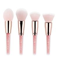 Multifunctional 4PCS Makeup Brushes Concealer Blush Powder Brush Makeup Tool Pincel Maquiagem Beauty Cosmetic Foundation Brush Eye Shadow Applicator