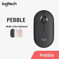 Logitech PEBBLE Bluetooth Mouse Silent Wireless Mouse Thin&Light Portable Modern Mouse with 1000DPI 100g High Precision Optical